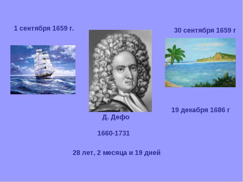 1 сентября 1659 г. 30 сентября 1659 г 19 декабря 1686 г 28 лет, 2 месяца и 19...