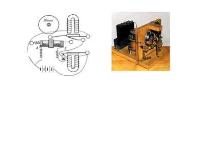 . Схема 'прибора для обнаружения и регистрирования электрических колебаний', ...