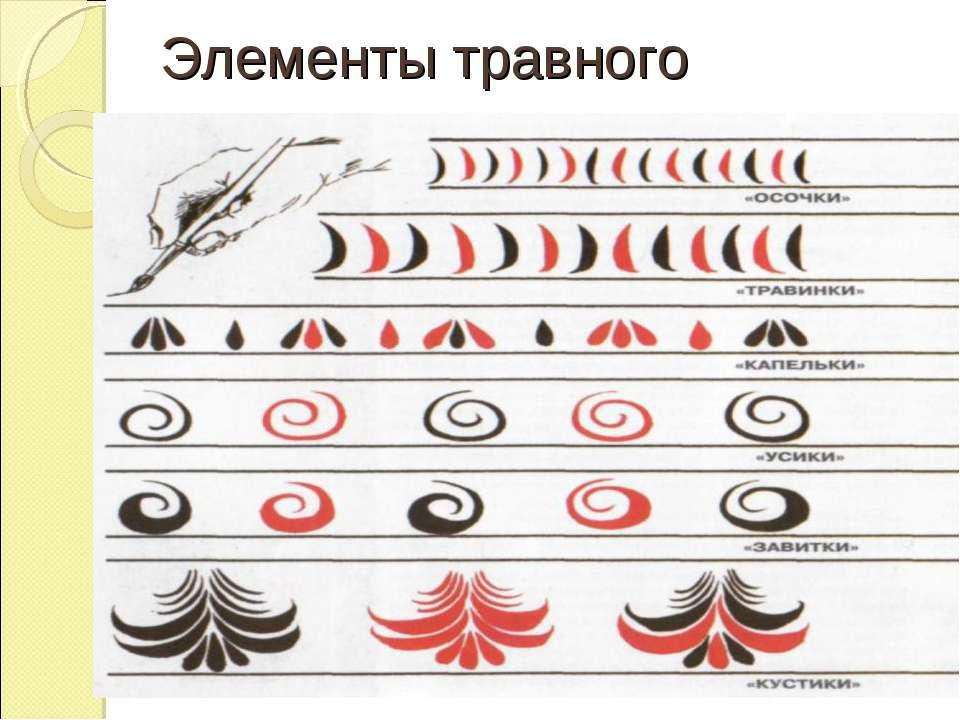 Элементы травного орнамента