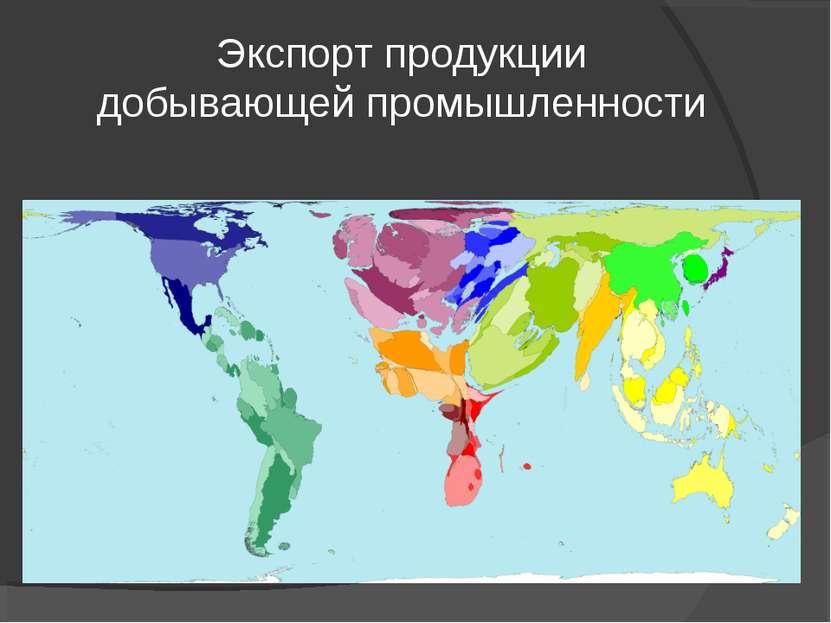 Экспорт продукции добывающей промышленности