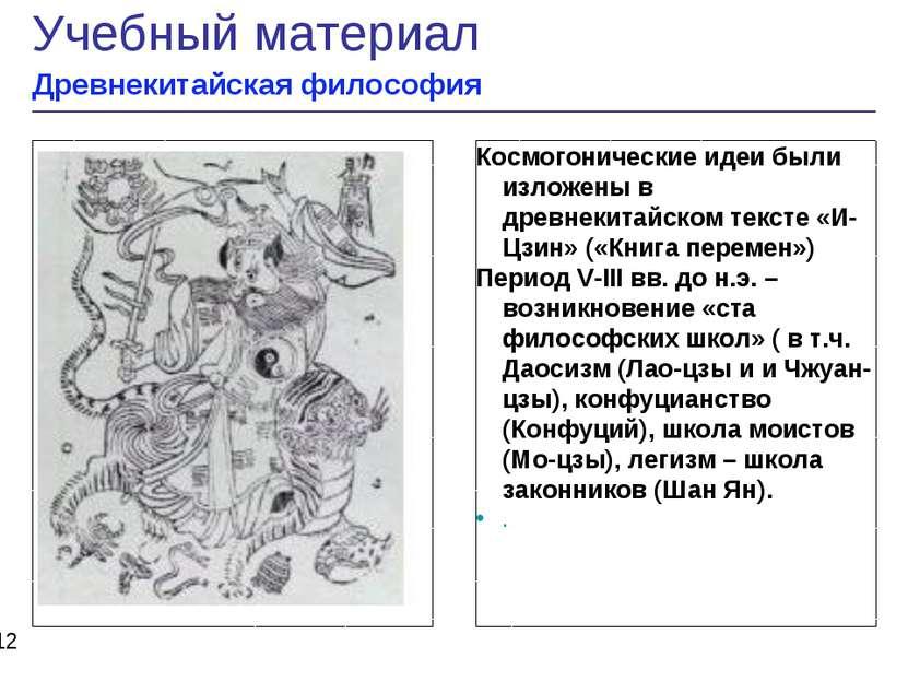 Рисунок Космогонические идеи были изложены в древнекитайском тексте «И-Цзин» ...