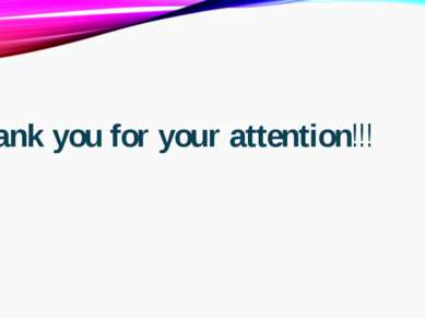 Thank you for your attention!!!