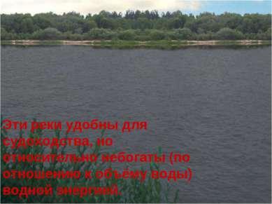 Эти реки удобны для судоходства, но относительно небогаты (по отношению к объ...