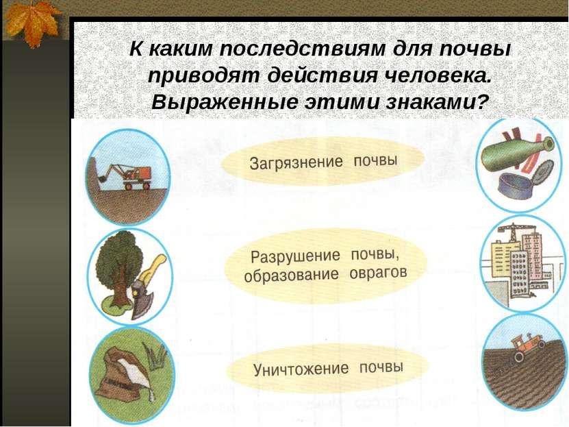 К каким последствиям для почвы приводят действия человека. Выраженные этими з...