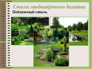Стили ландшафтного дизайна: Пейзажный стиль.