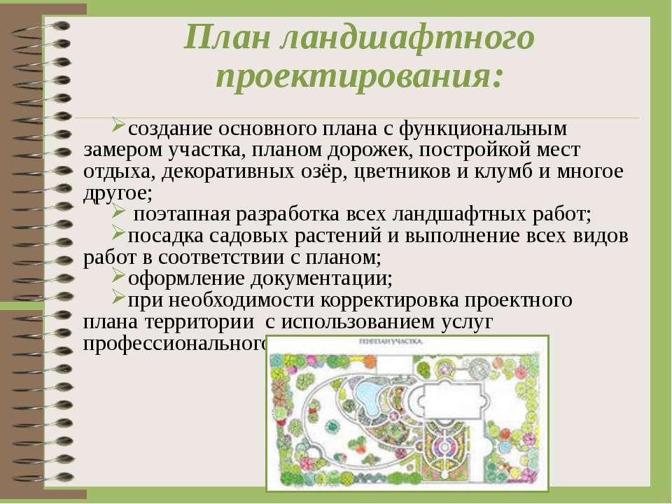 План ландшафтного проектирования: создание основного плана с функциональным з...