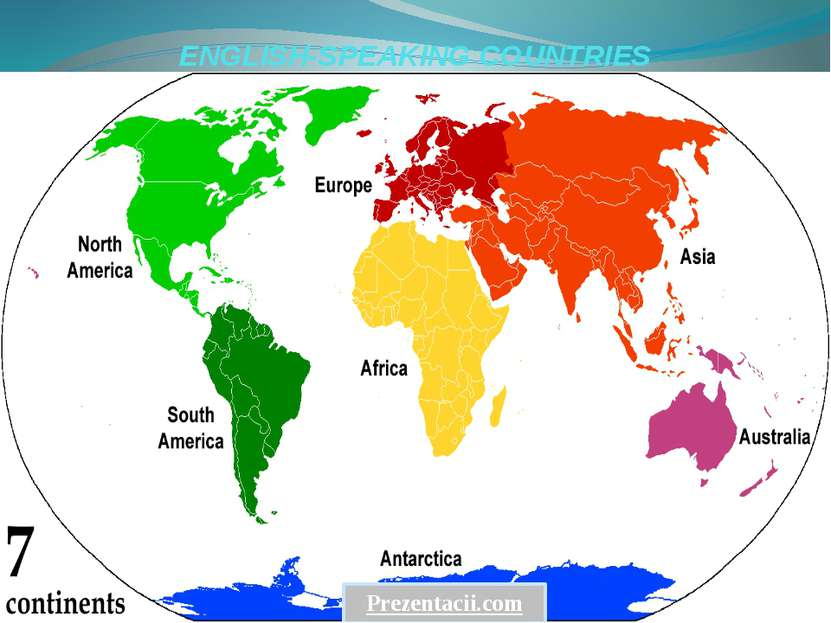 ENGLISH-SPEAKING COUNTRIES Prezentacii.com