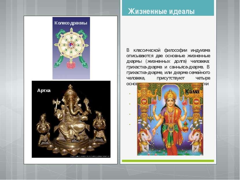 Артха Жизненные идеалы В классической философии индуизма описываются две осно...