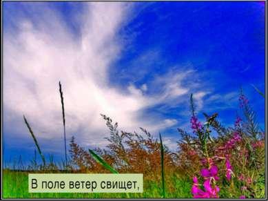 В поле ветер свищет,