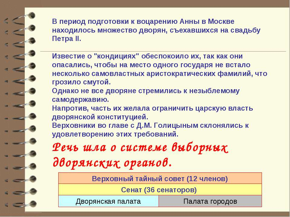 В период подготовки к воцарению Анны в Москве находилось множество дворян, съ...