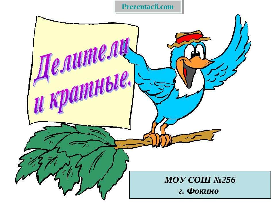 МОУ СОШ №256 г. Фокино