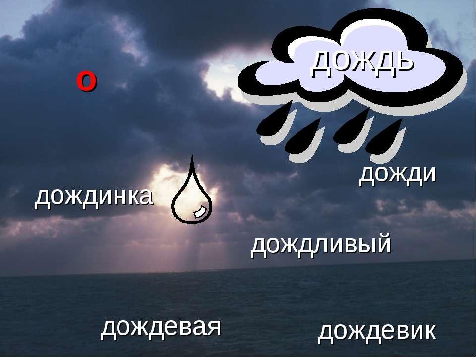 дожди дождинка дождливый дождевая дождевик дождь о