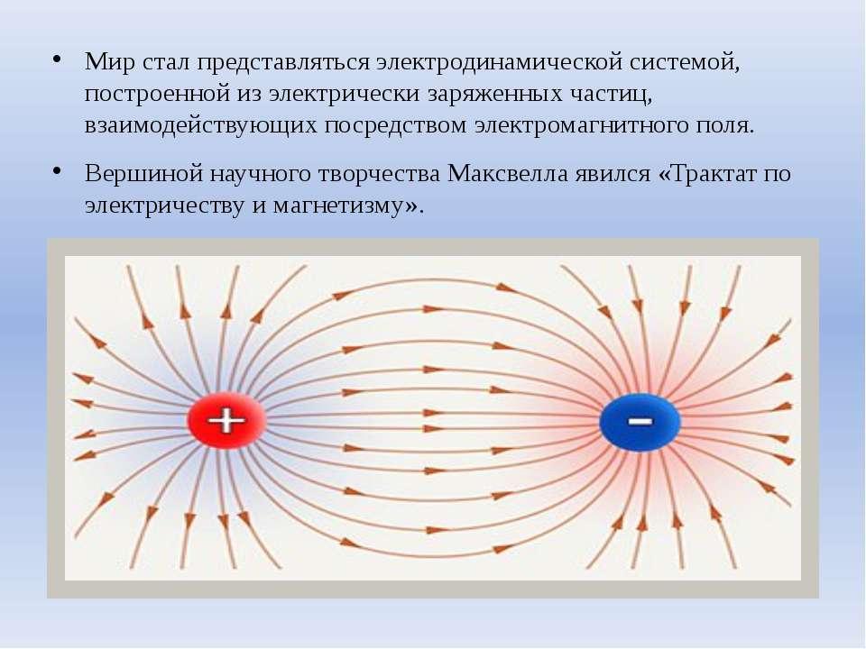 Мир стал представляться электродинамической системой, построенной из электрич...