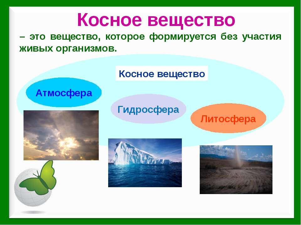 Косное вещество – это вещество, которое формируется без участия живых организ...