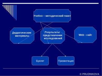 Учебно – методический пакет Дидактические материалы Web - сайт Буклет Презент...