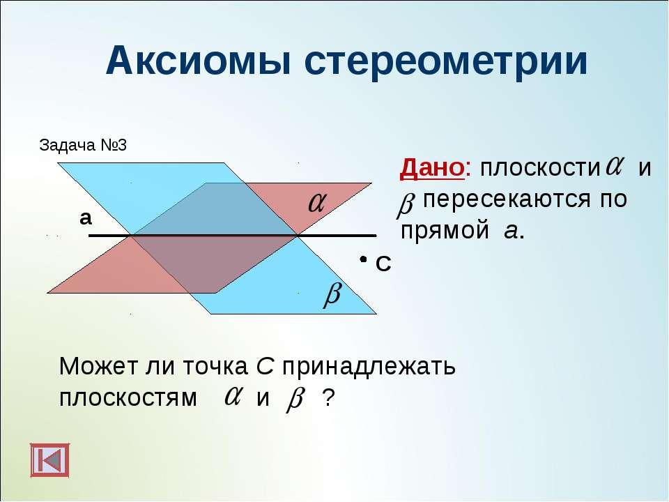 Аксиомы стереометрии C Дано: плоскости и пересекаются по прямой а. Может ли т...