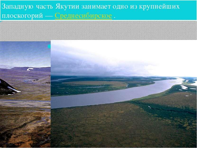 Западную часть Якутии занимает одно из крупнейших плоскогорий—Среднесибирск...