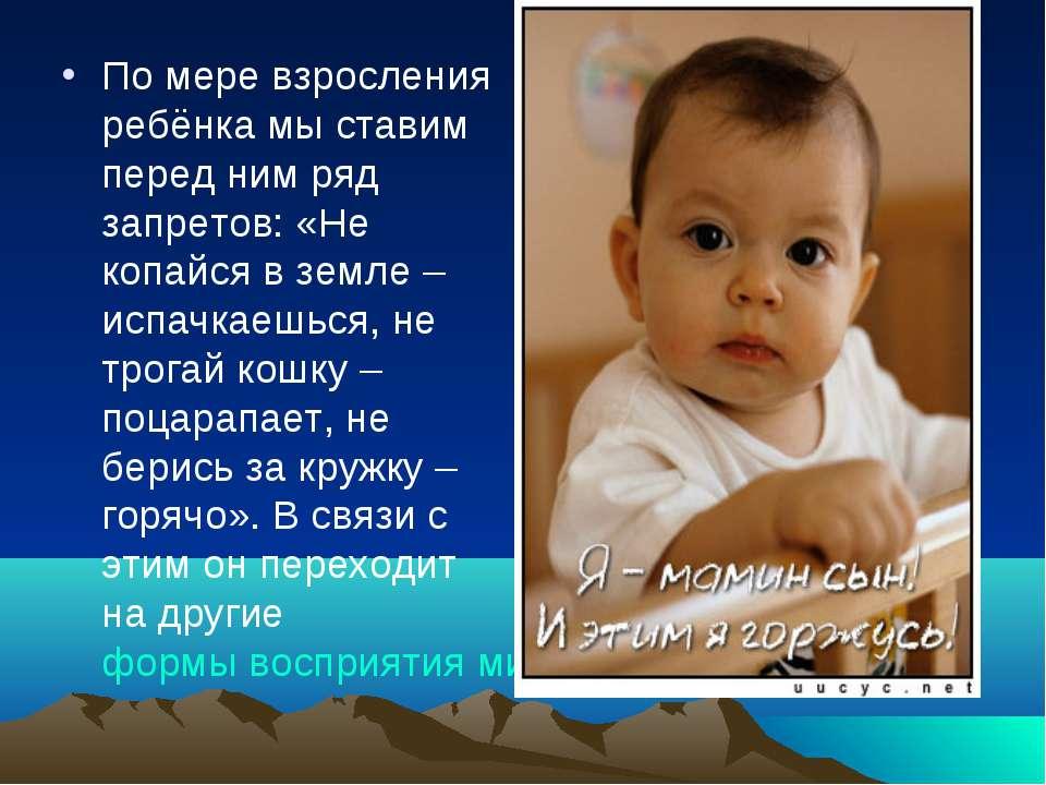 По мере взросления ребёнка мы ставим перед ним ряд запретов: «Не копайся в зе...