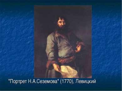 """Портрет Н.А.Сеземова"" (1770), Левицкий"