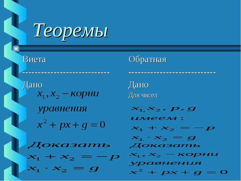 Теоремы