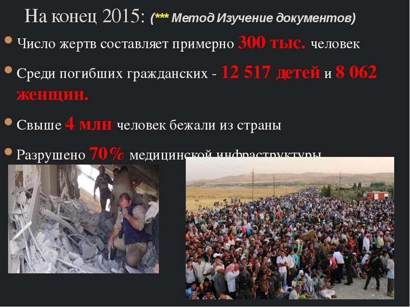 Число жертв составляет примерно 300 тыс. человек Среди погибших гражданских -...