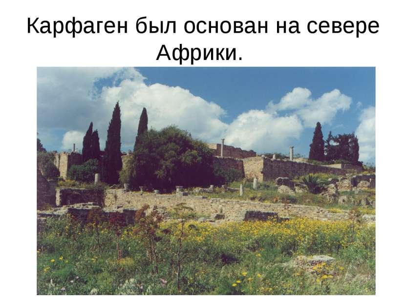 Карфаген был основан на севере Африки.