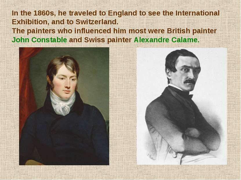 In the 1860s, he traveled to England to see the International Exhibition, and...