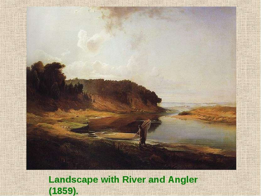 Landscape with River and Angler (1859).