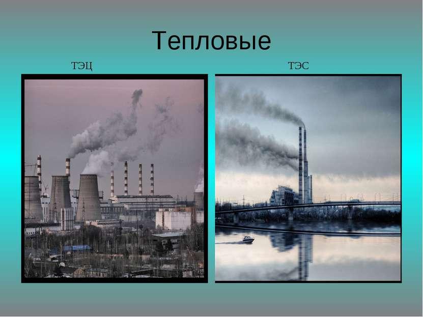 Тепловые ТЭЦ ТЭС