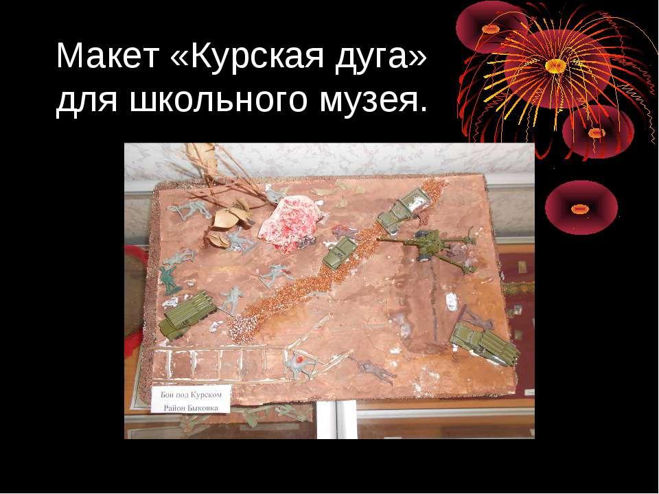 Макет «Курская дуга» для школьного музея.