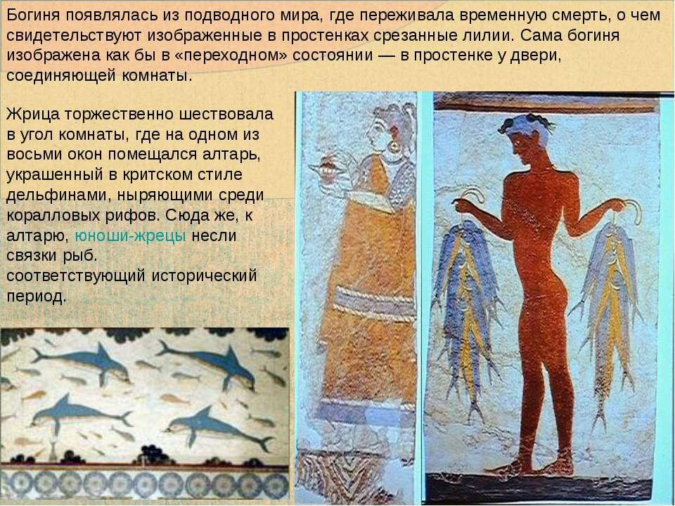 Богиня появлялась из подводного мира, где переживала временную смерть, о чем ...