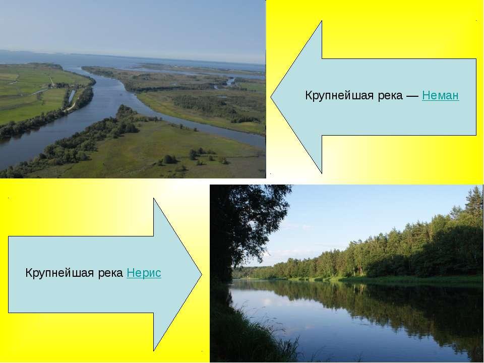 Крупнейшая рекаНерис Крупнейшая река— Неман