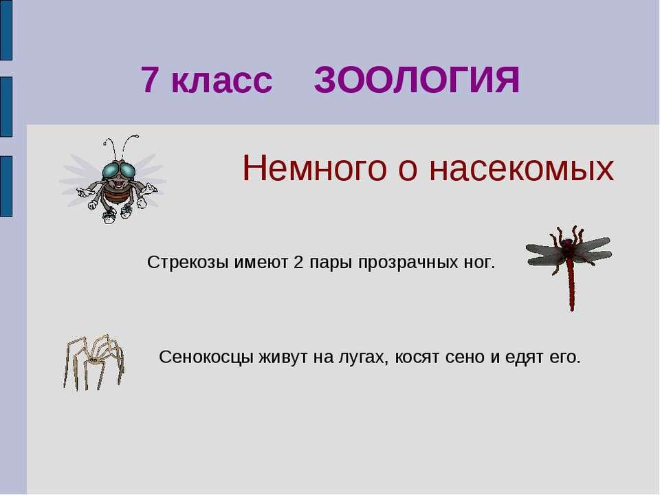 Сенокосцы живут на лугах, косят сено и едят его. 7 класс ЗООЛОГИЯ Стрекозы им...