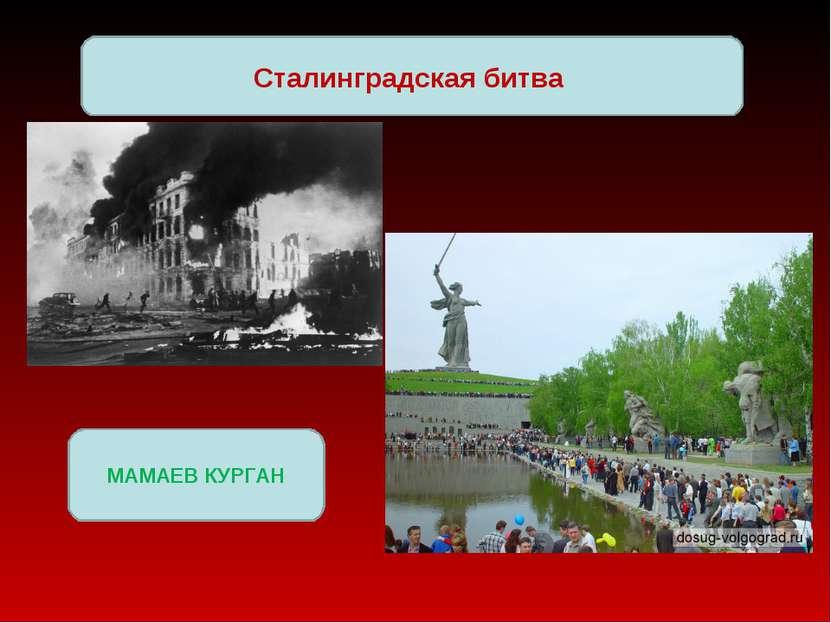 Сталинградская битва МАМАЕВ КУРГАН