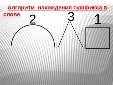Алгоритм нахождения суффикса в слове. 1 2 3