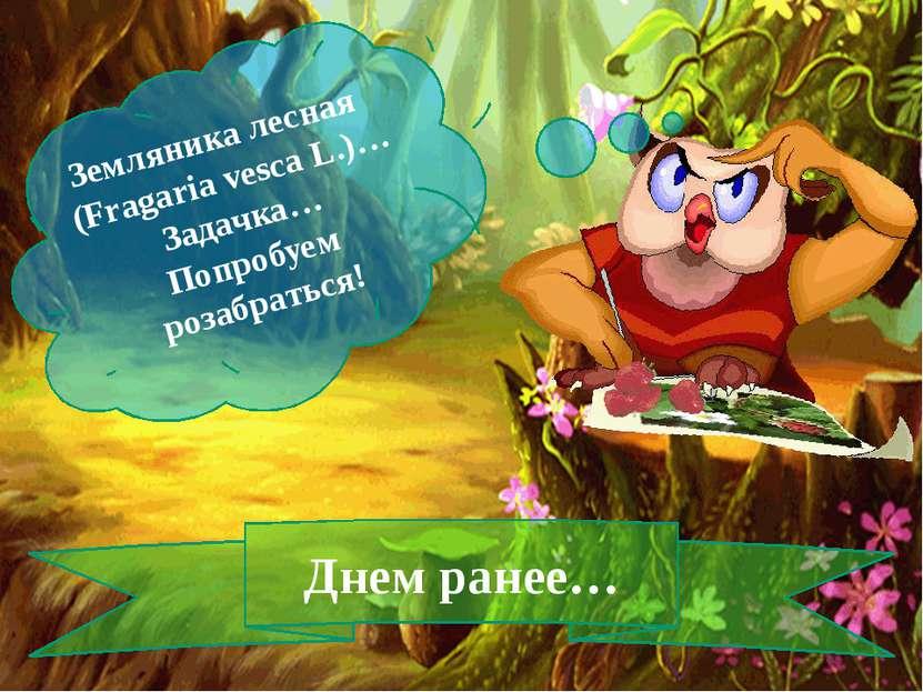 Земляника лесная (Fragaria vesca L.)… Задачка… Попробуем розабраться! Днем ра...