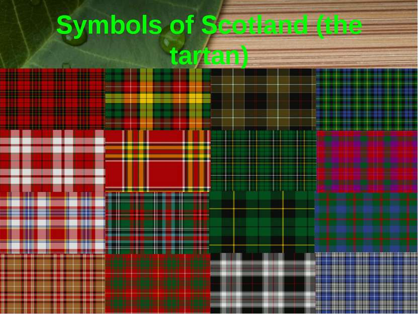 Symbols of Scotland (the tartan)