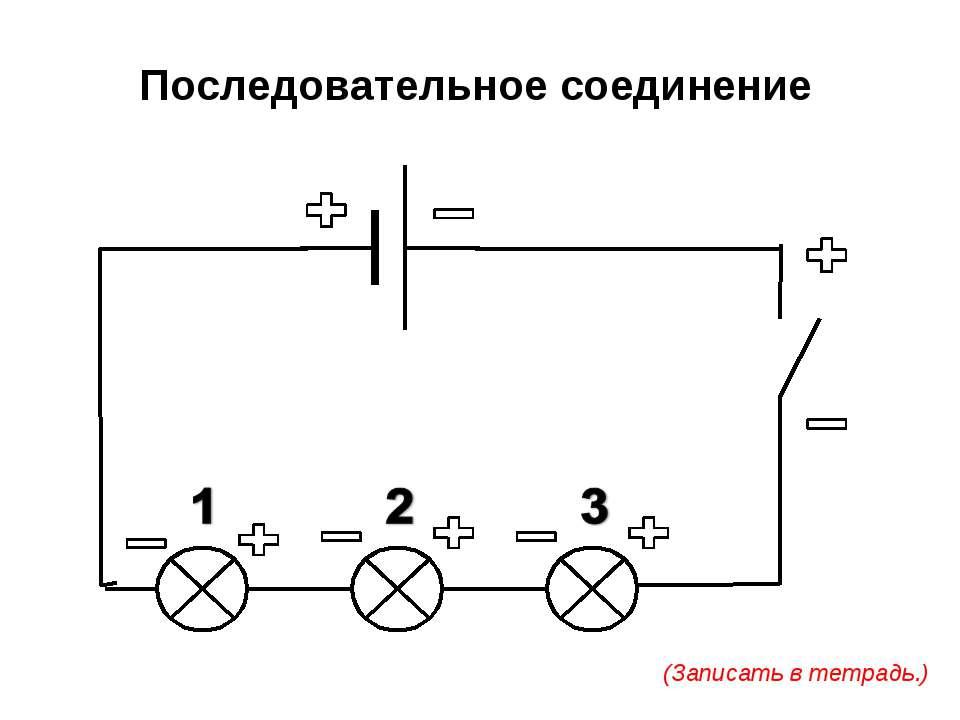 Последовательное соединение (Записать в тетрадь.)