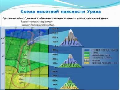 Практическая работа: Сравните и объясните различия высотных поясов двух часте...