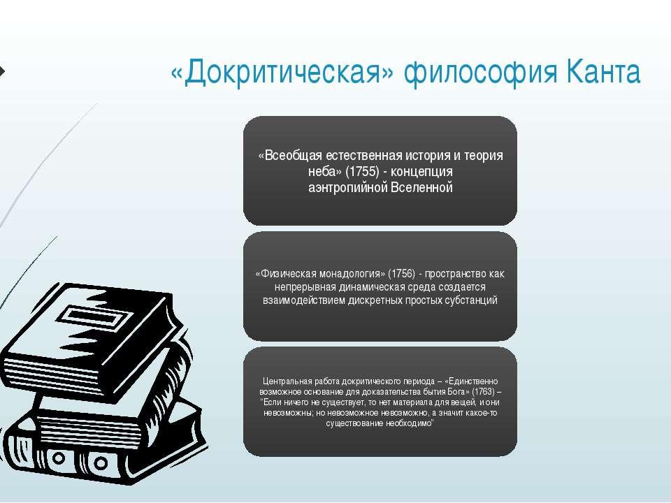 «Докритическая» философия Канта