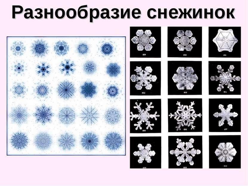 Разнообразие снежинок