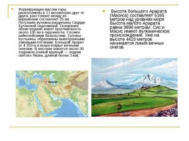 Высота большого Арарата (Масиса) составляет 5165 метров над уровнем моря. Выс...