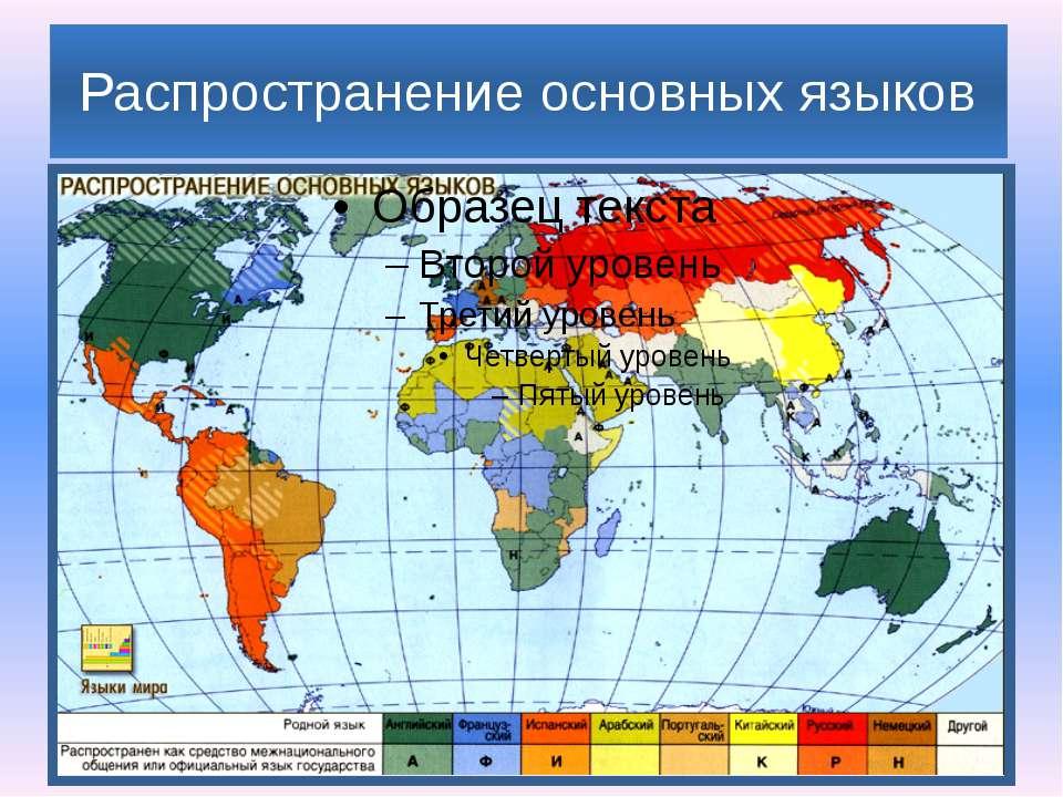 Распространение основных языков
