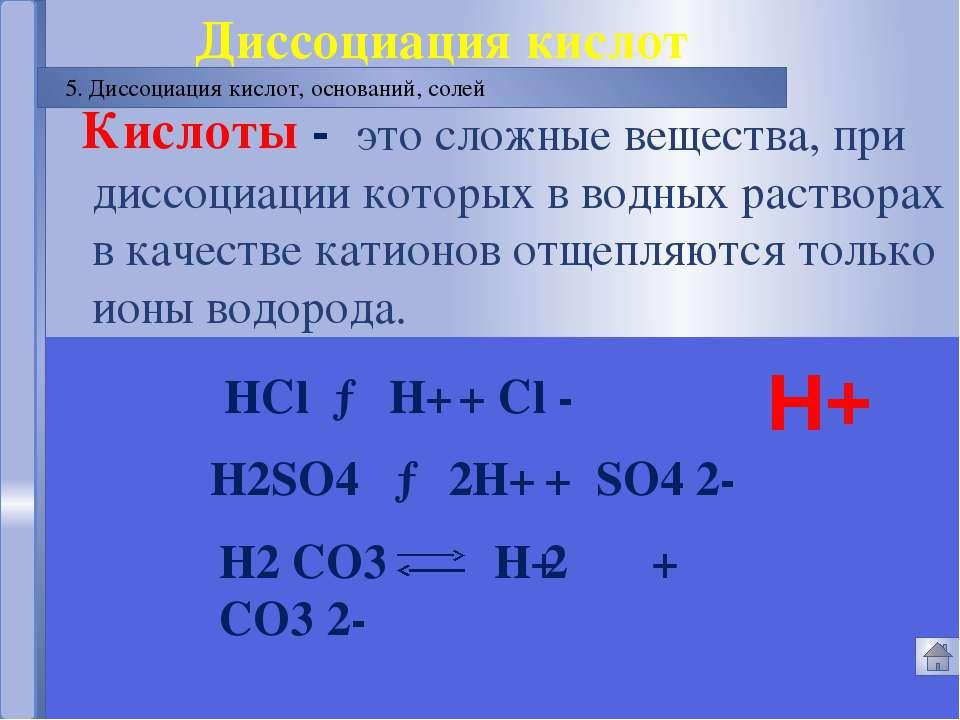 Русецкая О.П. Электролитическая диссоциация 7. Проверка знаний Русецкая О.П. ...