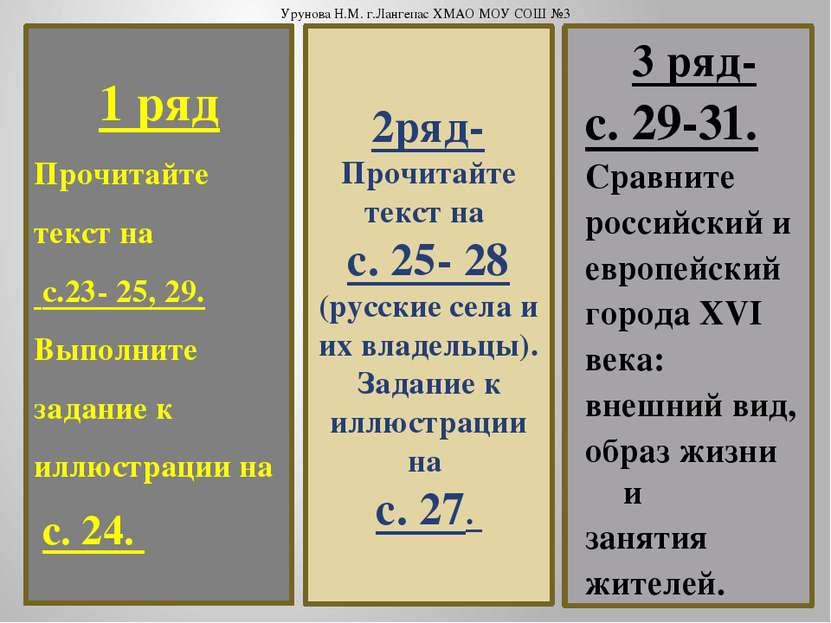 1 ряд Прочитайте текст на с.23- 25, 29. Выполните задание к иллюстрации на с....