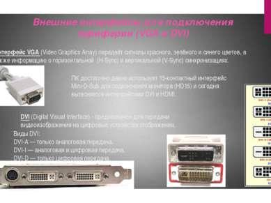 Интерфейс VGA (Video Graphics Array) передаёт сигналы красного, зелёного и си...