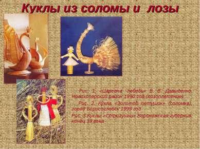 Куклы из соломы и лозы Рис. 1. «Царевна -лебедь» В. В. Давыденко, Новохоперск...