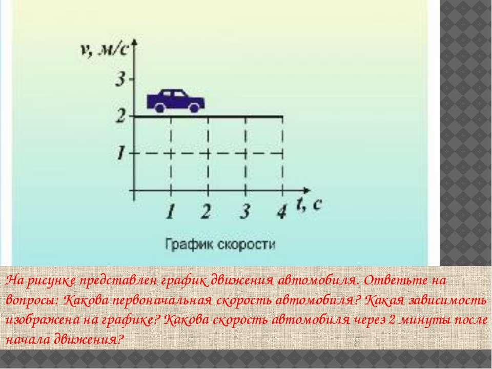 На рисунке представлен график движения автомобиля. Ответьте на вопросы: Каков...