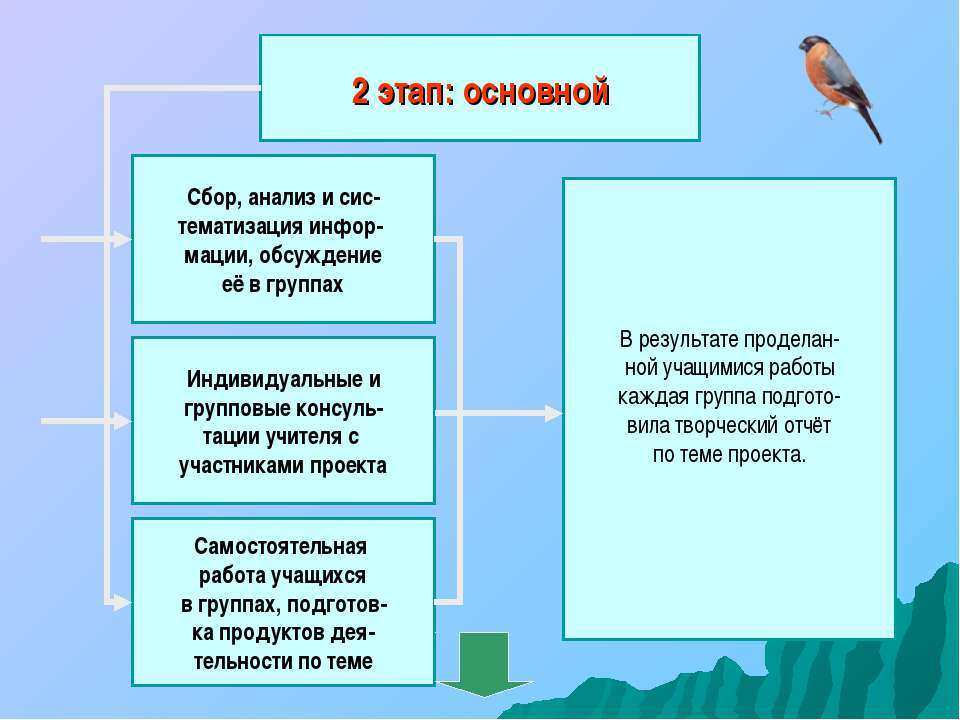 2 этап: основной Сбор, анализ и сис- тематизация инфор- мации, обсуждение её ...