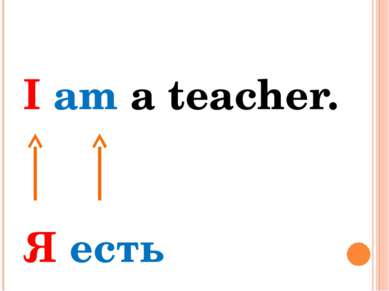 I am a teacher. Я есть